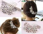 Charming  Rhinestone Flower Pattern Comb Bridal Hair Pin Clip For Girls& Women