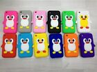 PENGUIN SILICONE SKIN CASE COVER CUTE AND FUN FITS APPLE IPHONE 3 3G & 3GS