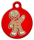 GINGERBREAD MAN - Custom Personalized Pet ID Tag for Dog and Cat Collars