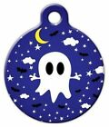 CUTE GHOST NIGHT SKY - Custom Personalized Pet ID Tag for Dog and Cat Collars