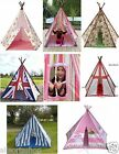 Wigwam Teepee Play Tent Indoor / Outdoor Boys and Girls Tobs Canvas Tents