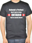 ONTARIO - NOBODY'S PERFECT - Canada / Canadian Themed Men's T-Shirt