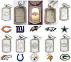 CHOOSE TEAM Necklace Dog Tag New Official NFL 40 Crystals 23in Chain Men orWomen