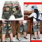 New Kids Girl Boys Fashion Cotton CAMO Trousers/Pirate shorts Free Belt AGE 1-6Y