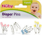 Nuby Plastic Head Quality Rust Proof Locking Baby Cloth Diaper Safety Pins 4