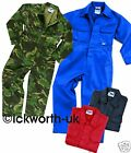 JUNIOR BOILERSUIT OVERALLS COVERALL BOILER SUIT CHILDS KIDS BOYS GIRLS CHILDRENS