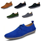 US5-11 New Nubuck Leather round toe Casual LaceUp loafer shoe fashion mens shoes
