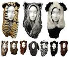 Faux Fur Animal Hats - 10 Animals - Winter Hood Trapper Ski Novelty Mens Ladies