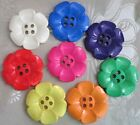 "GIANT DAISY BUTTON SIZE 100 2.5"" (63mm) - PERFECT FOR BAGS - MANY COLOURS"