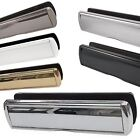 """Heavy Duty Metal 12"""" inch Sprung Omega Letter Box Plate Set UPVC Timber Doors"""