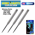 Winmau Sabotage 90% Tungsten Darts - Razor Grip -Available in 20g,22g,24g or 26g