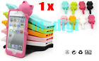Cute 3D Cat Soft Silicon case skin cover for iPhone 5 5G 5Gen & dust plug