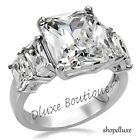 Kyпить 9.50 Ct Radiant Cut CZ Stainless Steel Engagement Ring Band Women's Size 5-10 на еВаy.соm