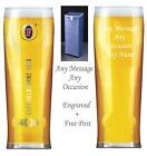 Personalised Engraved Branded Pint Fosters Beer Glass Wedding Gift Free Gift Box