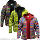 Brand New Men's Tie Dye Fleece Lined Hippy Jumper Festival Winter Hippie Jacket