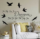 YOU MAY SAY I'M A DREAMER WALL QUOTE  wall sticker John Lennon words   S44