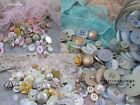 VINTAGE BUTTONS - 75 GRAMS BEAUTIFUL PEARL, METALLIC & COLOURED