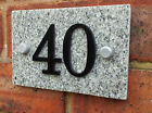 House Sign Granite Black & White 1-50 Signs Black Acrylic Protruding Numbers New