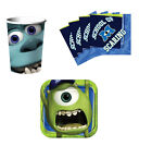 Monsters Inc University Birthday Party Supplies Kit Tableware Set for 8 / 16 NEW