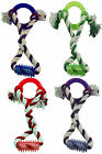 Bonzo Ring Tugger Fun Toy For all Dogs (Colour Red, Green, Purple or Blue)