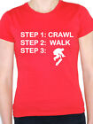 CRAWL WALK SKATE - Sport / Skater / Skating / Novelty /Fun Themed Womens T-Shirt