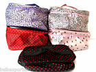 POLKA DOTS MAKE UP BAG TRAVEL WASH BAG COSMETIC TOILETRY TOILETRIES FOLDING