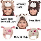 Girls Boys Animal Hat Warm Winter Woolly Hats Soft Fleece Lined Beanie 5 Colour