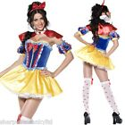 Ladies Adult Sexy Snow White Fairy Tale Corset Tutu Fancy Dress Costume Outfit