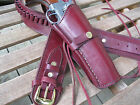 Cartridge Gun Belt Combo - .38 Cal Smooth H - Leather - Wine - Specify Size