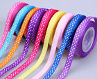 "5/50/100yards 3/8"" swiss dotty sewing décor grosgrain ribbon 10 color available"