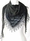 BEAUTIFUL vintage lace triangular scarf stole wrap top cape shawl 11 colours