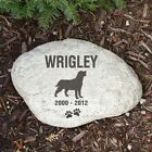 Personalized Dog Memorial Stone Engraved Dog Breed Memorial Garden Stone Marker
