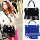 2013 New Korean Fashion Women lady Rivet Tote Shoulder Messenger Handbag Bag