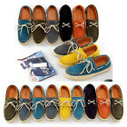 EU 38 - 44 suede Leather Casual Lace Up tassel espadrille loafer mens boat shoes
