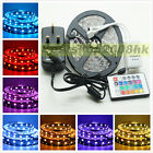 5M 5050 RGB SMD 300 LEDs Non-Waterproof Flexible Strip Lights 24 44 Key RC  Kit