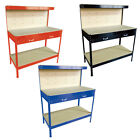 Heavy Duty Workbench For Garage/Workshop/Shed Tool Box With Pegboard Drawers