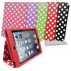 Polka Dot leather PU Media Stand Case, Cover for Apple iPad various tablets