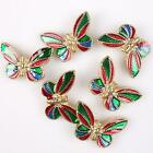 8/40pcs 112834 Popular New Mixed Charms Alloy Enamel Butterfly Sapcer Beads Hot