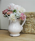 VINTAGE STYLE JUG, Crackled Distressed Ceramic WITH or WITHOUT FLOWERS