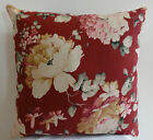 Country Blooms Cranberry Decorative Throw Pillow Cover / Case