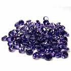 3MM Round Cut~  Russia Fine Purple Amethyst Simulated Dia~Cubic Zirconia~Lot