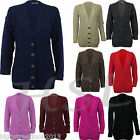 LADIES SIZE 8 10 12 14 CABLE KNIT BOYFRIEND CARDIGAN SWEATER TOP CARDIGANS
