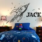 SPACE wall sticker retro rocket planets�kids bedroom invaders stickers art vinyl