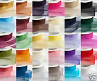 Quality Cut Lengths Sheer Woven Edge Organza Chiffon Ribbon 7mm 15mm 25mm 38mm