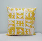 Outdoor/Indoor Towers Citrus Yellow / White Home Decor Throw Pillow Cover / Case