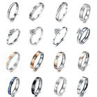 Women's Titanium Silver Wedding Rings Engagement Band Jewelry Free Gift boxes