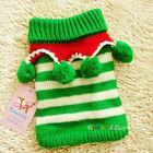 Pet Dog Puppy apparel cloth Clothing Winter warm weave Sweater Coat