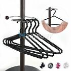 5X Beaded Plastic Pearl Clothes Clothing Hangers Fashion Personality