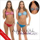 NEW PADDED striped BIKINIS SWIMMING WEAR women SUMMER beachwear halter BIKINI sz