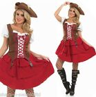 Ladies Sexy Pirate Hen Do Halloween Fancy Dress Costume Outfit 8-30 Plus Size